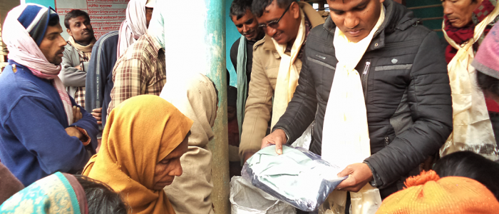 Providing People with Warm Cloth